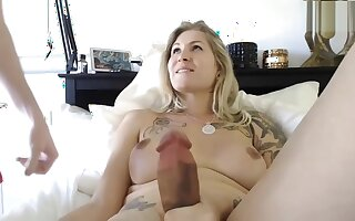hot blonde milf big cock shemale anal sex with boyfriend on webcam