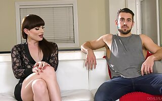 Shemale Natalie Mars enjoys having sex with a perverse dude. HD