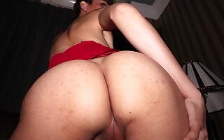 Petite unskilful ladyboy Prem POV blowjob and deep bareback anal fucking